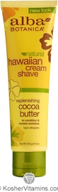 Alba Botanica Hawaiian Cream Shave Replenishing Cocoa Butter 5 OZ