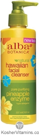 Alba Botanica Hawaiian Facial Cleanser Pore Purifying Pineapple Enzyme 8 OZ
