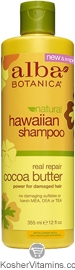 Alba Botanica Hawaiian Shampoo Real Repair Cocoa Butter 12 OZ