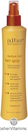 Alba Botanica Medium Hold Hair Spray 8 OZ