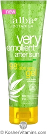 Alba Botanica Very Emollient After Sun Gel 98% Aloe Vera 8 OZ
