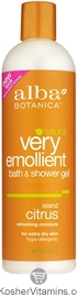 Alba Botanica Very Emollient Bath & Shower Gel Island Citrus 12 OZ
