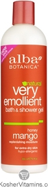 Alba Botanica Very Emollient Bath & Shower Gel Honey Mango 32 OZ