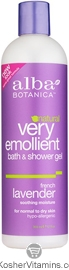 Alba Botanica Very Emollient Bath & Shower Gel French Lavender 32 OZ
