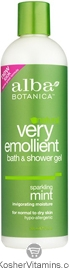 Alba Botanica Very Emollient Bath & Shower Gel Sparkling Mint 32 OZ