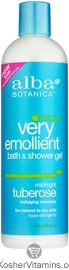 Alba Botanica Very Emollient Bath & Shower Gel Midnight Tuberose 12 OZ