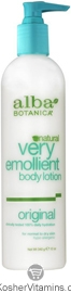 Alba Botanica Very Emollient Body Lotion Original 32 OZ