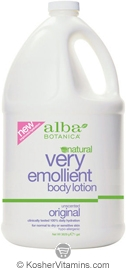 Alba Botanica Very Emollient Body Lotion Unscented Original 1 Gallon