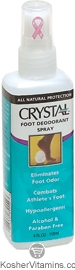 Crystal All Natural Foot Deodorant Spray 4 OZ