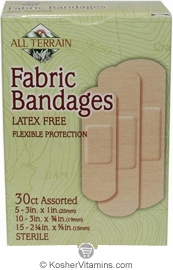 All Terrain Fabric Bandages Assorted Latex Free 30 Count