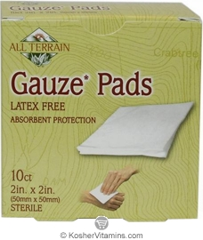 All Terrain Gauze Pads Latex Free 10 Count
