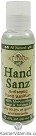 All Terrain HandSanz Antiseptic Hand Sanitizer with Aloe & Vitamin E 2 OZ