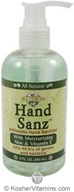 All Terrain HandSanz Antiseptic Hand Sanitizer with Aloe & Vitamin E 8 OZ