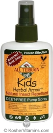 All Terrain Childrens Herbal Armor Natural Insect Repellent Spray 4 OZ