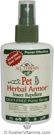 All Terrain Pet Herbal Armor Natural Insect Repellent Spray 4 OZ