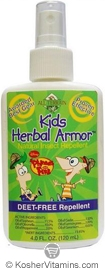 All Terrain Phineas & Ferb Kids Herbal Armor Natural Insect Repellent Spray 4 OZ