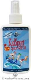All Terrain Phineas & Ferb KidSport Sunscreen Broad Spectrum SPF30 Spray 3 OZ