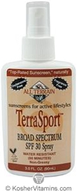 All Terrain TerraSport Sunscreen Broad Spectrum SPF30 Spray 3 OZ