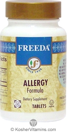 Freeda Kosher Allergy Formula 250 Tablets