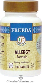 Freeda Kosher Allergy Formula 100 Tablets