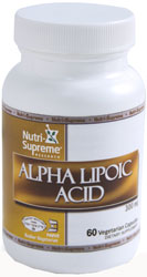 Nutri-Supreme Research Kosher Alpha Lipoic Acid 300 mg. 60 Vegicaps