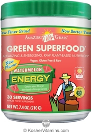 Amazing Grass Kosher Green Superfood Energy Drink Powder Watermelon 7.4 OZ