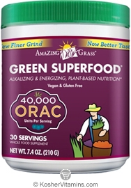 Amazing Grass Kosher Green Superfood Drink Powder 40,000 ORAC 7.4 OZ