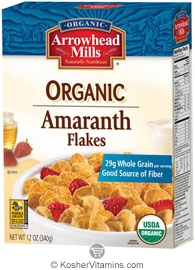 Arrowhead Mills Kosher Organic Amaranth Flakes Cereal 12 OZ