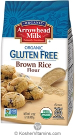 Arrowhead Mills Kosher Organic Brown Rice Flour Gluten Free 32 OZ