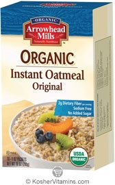Arrowhead Mills Kosher Organic Instant Oatmeal Original 10 Packets