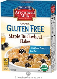 Arrowhead Mills Kosher Organic Maple Buckwheat Flakes Cereal Gluten Free 10 OZ