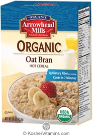 Arrowhead Mills Kosher Organic Oat Bran Hot Cereal 16 OZ