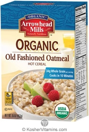 Arrowhead Mills Kosher Organic Old Fashioned Oatmeal Hot Cereal 16 OZ