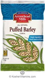 Arrowhead Mills Kosher Puffed Barley Cereal 6 OZ