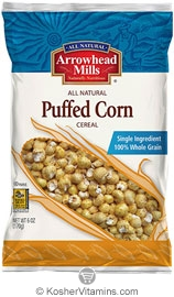 Arrowhead Mills Kosher Puffed Corn Cereal 6 OZ