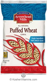 Arrowhead Mills Kosher Puffed Wheat Cereal 6 OZ