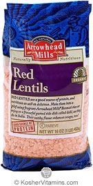 Arrowhead Mills Kosher Organic Red Lentils 16 OZ
