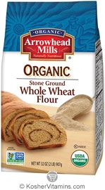 Arrowhead Mills Kosher Organic Stone Ground Whole Wheat Flour 5 LB
