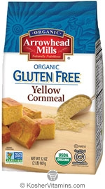 Arrowhead Mills Kosher Organic Yellow Corn Meal Gluten Free 32 OZ