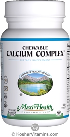 Maxi Health Kosher Chewable Calcium Complex Vanilla Flavor 180 Tablets