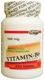 Landau Kosher Vitamin B6 100 Mg 250 Tablets