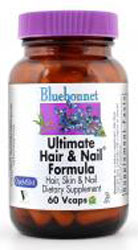 Bluebonnet Kosher Ultimate Hair & Nail Formula 60 Vegetable Capsules