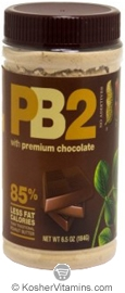 Bell Plantation Kosher PB2 Powdered Peanut Butter with Premium Chocolate 6.5 OZ