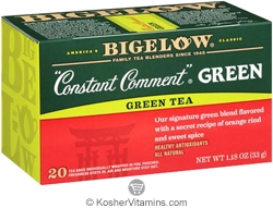 Bigelow Kosher Constant Comment Green Tea  20 Tea Bags