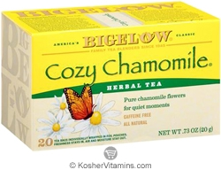 Bigelow Kosher Cozy Chamomile Herbal Tea Caffeine Free 20 Tea Bags