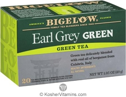 Bigelow Kosher Earl Grey Green Tea  20 Tea Bags