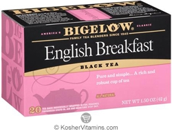Bigelow Kosher English Breakfast Black Tea 20 Tea Bags