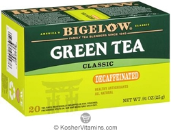 Bigelow Kosher Green Tea Classic Decaffeinated 20 Tea Bags