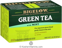 Bigelow Kosher Green Tea with Mint 20 Tea Bags