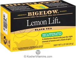 Bigelow Kosher Lemon Lift Black Tea Decaffeinated  20 Tea Bags